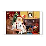 Santa's Eskimo Spitz 20x12 Wall Decal