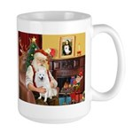Santa's Eskimo Spitz Large Mug