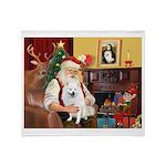 Santa's Eskimo Spitz Throw Blanket
