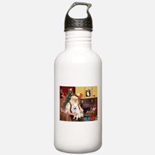 Santa's Eskimo Spitz Sports Water Bottle