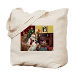Santa/Anatolian Shep Tote Bag