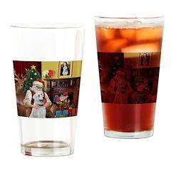 Santa & Anatolian Drinking Glass