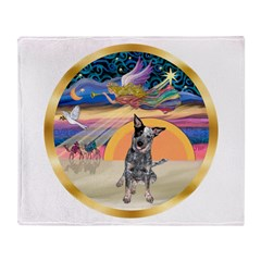 XmasStar/Cattle Dog Throw Blanket
