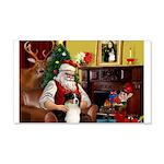 Santa's Aussie (Tri2) 22x14 Wall Peel