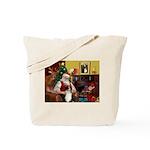 Santa's Aussie (Tri2) Tote Bag