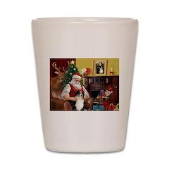 Santa's Aussie (Tri2) Shot Glass