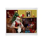 Santa's Aussie (Tri2) Throw Blanket