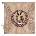 Celtic Owl Shower Curtain