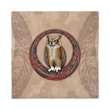 Celtic Owl Queen Duvet Cover