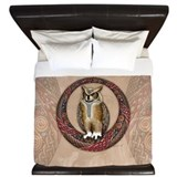 King duvet cover   owl King Duvet Covers
