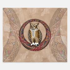 Celtic Owl King Duvet Cover