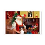 Santa's Tri Aussie (#7) 20x12 Wall Decal