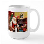 Santa's Tri Aussie (#7) Large Mug