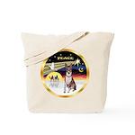 XmasDove/Basenji #2 Tote Bag
