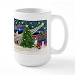 XmasMagic/Basenji #2 Large Mug