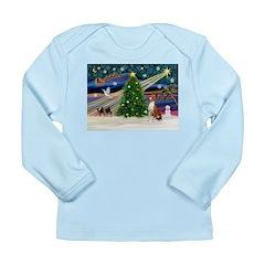 XmasMagic/Basenji #2 Long Sleeve Infant T-Shirt
