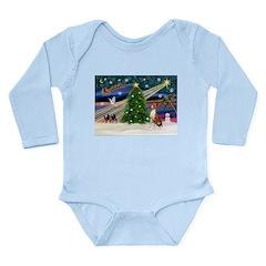 XmasMagic/Basenji #2 Long Sleeve Infant Bodysuit