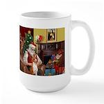 Santa's Basenji (#2) Large Mug