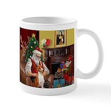 Santa's Basenji (#2) Mug