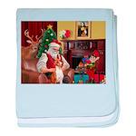 Santa's Basenji (#2) baby blanket