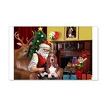 Santa's Basset Hound 22x14 Wall Peel