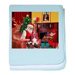 Santa's Basset Hound baby blanket