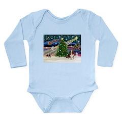 Xmas Magic - Basset Long Sleeve Infant Bodysuit