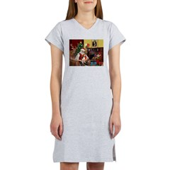 Santa's Beagle Women's Nightshirt