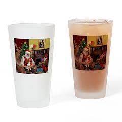 Santa's Beagle Drinking Glass