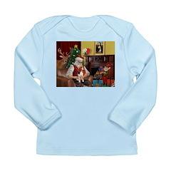 Santa's Beagle Long Sleeve Infant T-Shirt