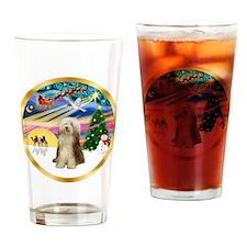 XmasMagic/Beardie #16 Drinking Glass