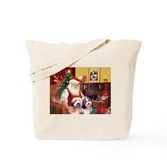 Santa's Beardie pair Tote Bag