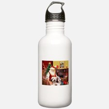 Santa's Beardie pair Water Bottle