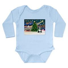 Xmas Magic & Beardie Long Sleeve Infant Bodysuit