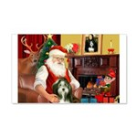Santa's Bearded Collie 22x14 Wall Peel