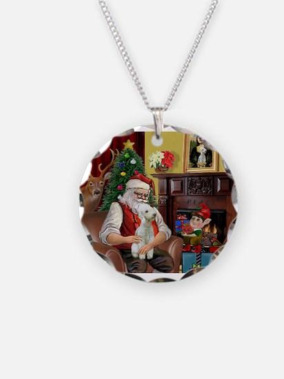 Santa's Bedlington Necklace