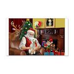 Santa's Bedlington 22x14 Wall Peel