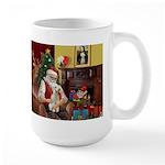 Santa's Bedlington Large Mug