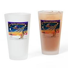 XmasSunrise/ Malanois Drinking Glass