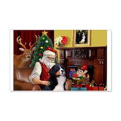 Santa's Home & Bernese 22x14 Wall Peel