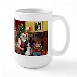 Santa's Home & Bernese Large Mug
