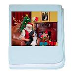 Santa's Home & Bernese baby blanket
