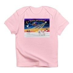XmasSunrise/2 Bichons Infant T-Shirt