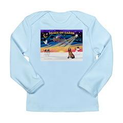 XmasSunrise/Bloodhound Long Sleeve Infant T-Shirt