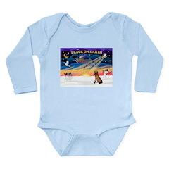 XmasSunrise/Bloodhound Long Sleeve Infant Bodysuit