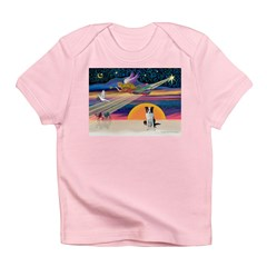 XmasStar/Border Collie Infant T-Shirt