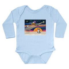 XmasStar/Border Collie Long Sleeve Infant Bodysuit