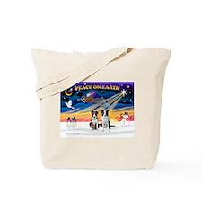 XmasSunrise/2 Border Collies Tote Bag