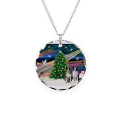 XmasMagic/2 Border Collies Necklace