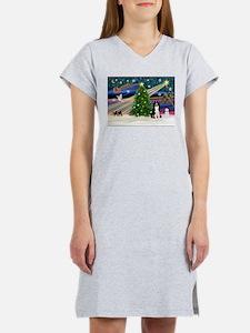 Xmas Magic & Border Collie Women's Nightshirt